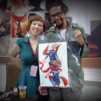 Ms Marvel Captain Marvel commission | Rizal Farok