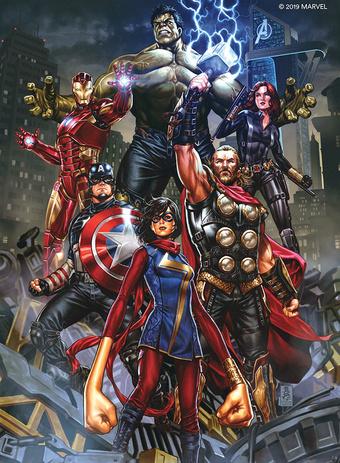 Square Enix Avengers poster | Rizal Farok