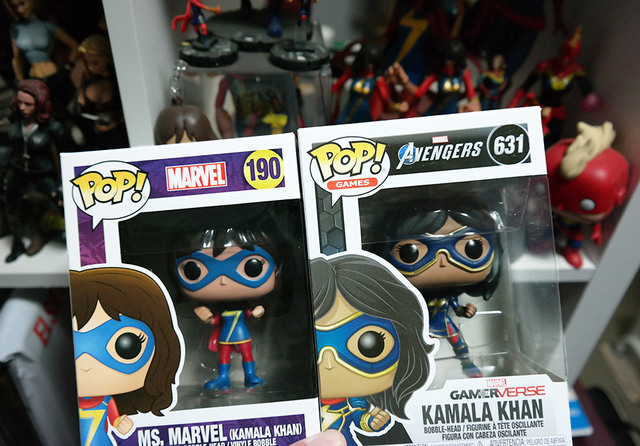 the 2 Ms Marvel Kamala Khan pops | Rizal Farok