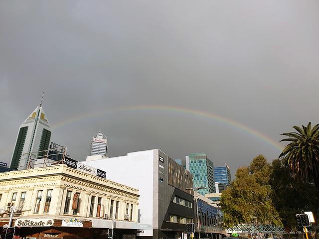 rainbow over Perth City | Rizal Farok